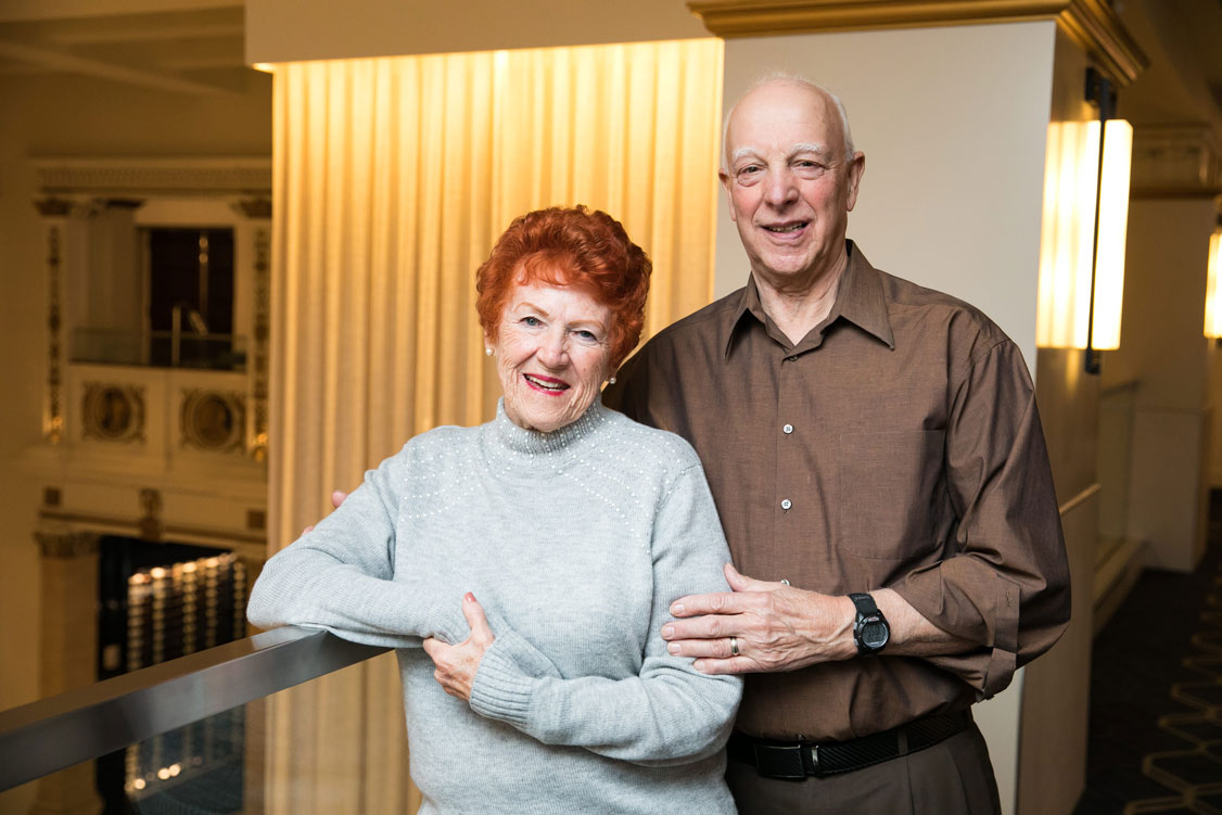 Portrait of Impella patient Mary Hanel and her husband