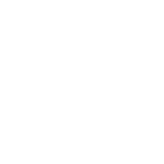 White icon illustration of a patient in a hospital bed with a health care provider looking over them with a health care cross on a red circle background