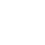 White icon illustration of the side profile of a head wearing a headset on a red circle background