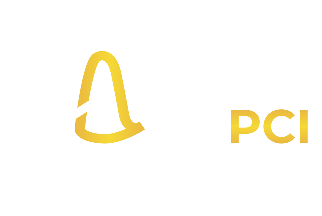 White and gold CAMP PCI logo